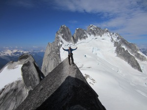 Andre Ike on the West Ridge of Snowpatch Spire