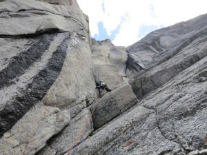 Andre Ike on Hell or Highwater in the Bugaboos